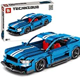 Technic edificio bloques de coche, 833pcs Technic Sports coche modelo construcción conjunto compatible con la tecnología Lego (B)