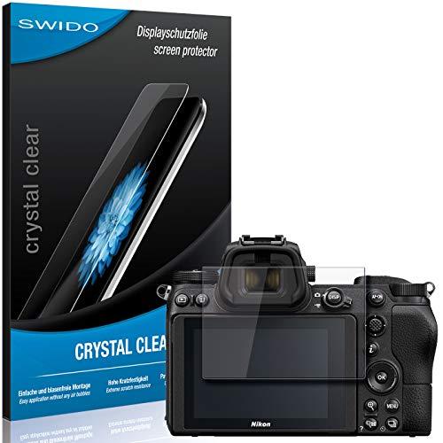 SWIDO Schutzfolie für Nikon Z6 [2 Stück] Kristall-Klar, Hoher Festigkeitgrad, Schutz vor Öl, Staub & Kratzer/Glasfolie, Bildschirmschutz, Bildschirmschutzfolie, Panzerglas-Folie