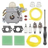 Savior 308054013 Carburetor with Gasket Primer Bulb for Ryobi SS26 Carburetor CS26 SS30 CS30 EX26 S430 308054013 308054012 308054004 308054077 Homelite String Trimmer