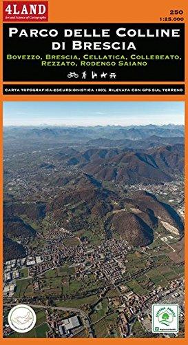 Parco delle colline di Brescia. Bovezzo, Brescia, Cellatica, Collebeato, Rezzato, Rodengo Saiano. Carta escursionistica 1:25.000