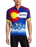 CANARI Men's Souvenir Cycling/Biking Jersey, Colorado-Cobalt, Medium