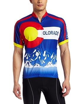 CANARI Men s Souvenir Cycling/Biking Jersey Colorado-Cobalt X-Large