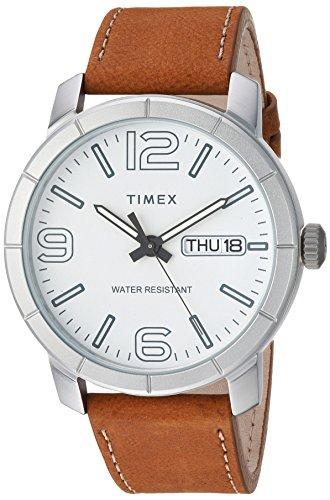 Timex Men's TW2R64100 Mod 44 Tan/White Leather Strap Watch