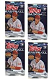 4 PACK LOT : 2012 Topps (Series 1) Baseball Cards Factory Sealed Hobby Pack (10 Cards/Pack) - Look for Golden Giveaway Cards!