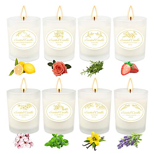 Women Scented Candles Gifts ,Aromatherapy Candle Sets with 8...