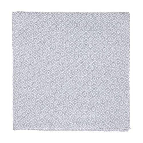 """URBANARA Baumwolldecke """"Mondego"""" – 100% Reine Baumwolle, Überwurf, Tagesdecke, Sofadecke (140 x 200 cm, Hellgrau)"""
