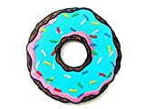 Cute Blue Doughnut Donut Sweet Logo T-Shirt Bags Jackets Jeans Clothes Embroidered Iron on Patch