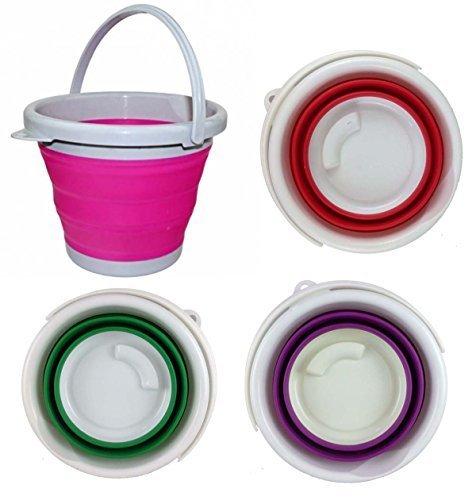 GMMH - Cubo plegable (silicona, 5L), color verde