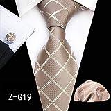 GYYCY Vestido A Cuadros Casual para Hombre Corbata Bufanda De Bolsillo Puño Traje De Tres Piezas