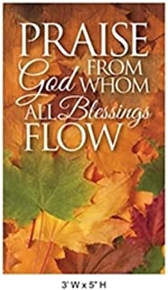 Praise God from Whom All Blessings Flow Fall Harvest Church Banners (3 Feet (W) x 5 Feet (H), Pole Hem)