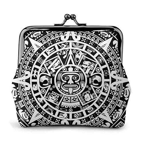 Maya-Kalender Ende der Welt Frauen \'S Brieftasche Schnalle Münze Geldbörse Tasche Kisslock Reise Make-up Brieftaschen