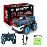 Remote Control Car,RC Stunt Inverted and 360° Rotation Shark Angry Style for Boys & Kids,2.4Ghz with Flashing Lights (Blue)
