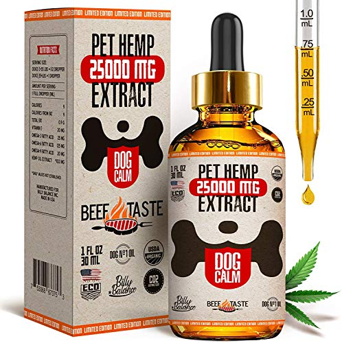 Billy Balance - Oil for Dogs – 25 000 MG – Stress Relief, Anxiety,...