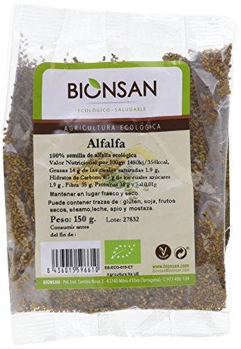 Bionsan Alfalfa Ecológica - 4 Bolsas de 150 gr - Total: 600...