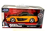 Jada Fast&Furious Han's Mazda RX-7 (Orange) 1:32 Scale Diecast