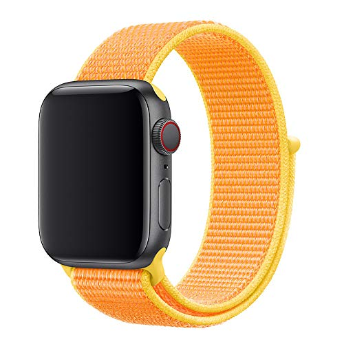 VHILS Sport Band Compatible with Apple Watch Band 38mm 40mm for Women Men, Soft Breathable Premium Canvas Woven Nylon Replacement Strap Wristband for iWatch Apple Watch Series 5/4/3/2/1,