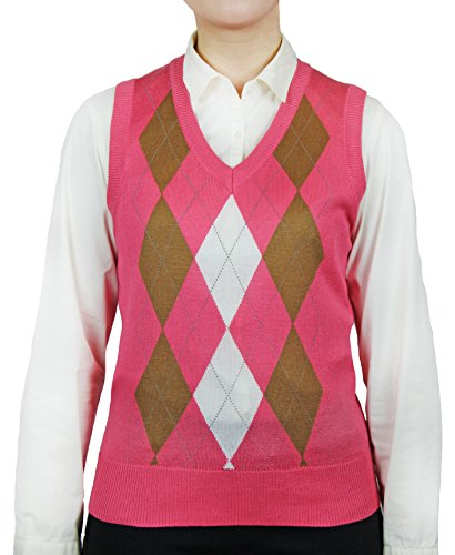 Blue Ocean Ladies Argyle Sweater Vest-X-Small