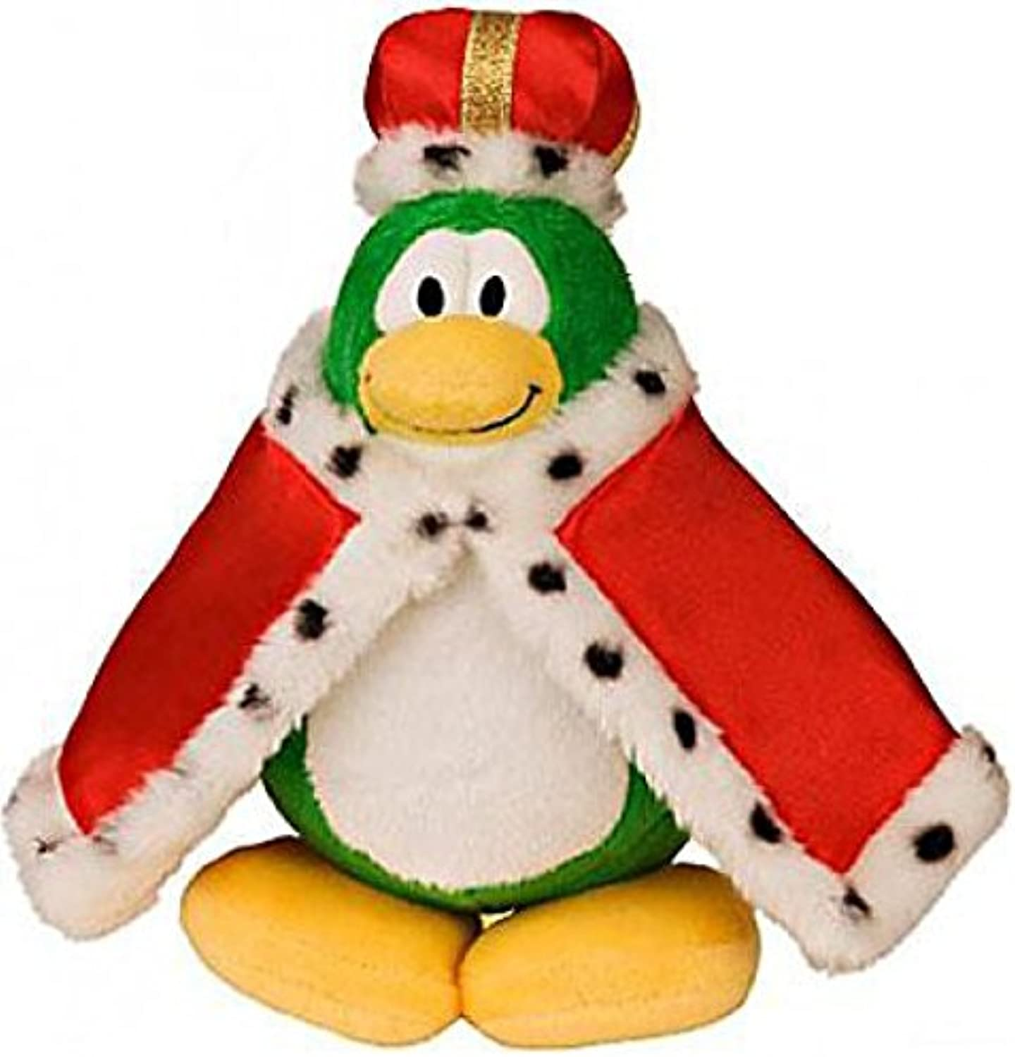 Disney Club Penguin 6.5 Inch Series 2 Plush Figure King (Includes Coin with Code )