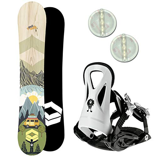 Ftwo T-Ride Kinder Snowboard Set 2020~120 cm JUNIOR BINDUNG GR. S + PAD