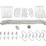 TOAOB 253 pcs Kits de Fabrication de Bijoux Argent avec Cha�