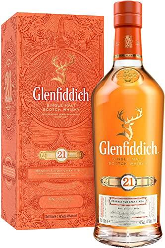Glenfiddich Glenfiddich 21 Years Old Reserva Rum Cask Finish Single Malt Scotch Whisky 40% Vol. 0.7L In Giftbox - 700 ml