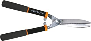 Fiskars 391911-1002 Power Lever 8-Inch Hedge Shears With Soft Grip Handle Black/Orange