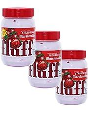 Fluff Marshmallow Strawberry 42671 - Juego de 3 Trazos para Pan (azúcar espumoso, Fresa, 213 g)