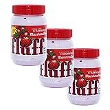 Fluff Marshmallow Strawberry Juego de 3, Pan, Pan, Untar Untar Espuma Azúcar, Fresas, 213g, 42671