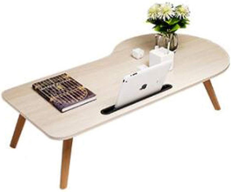JSFQ Wooden Snack Table Irregular Shape Folding Table Table Legs Foldable, Dormitory Lazy Desk 100 × 50 × 33cm Folding Table (color   B)