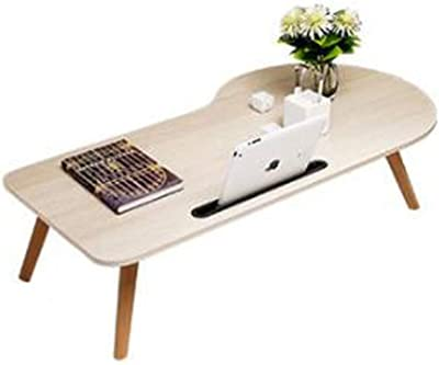 Learning Small Table Coffee Table Wooden Snack Table Irregular Shape Folding Table 100×50×33cm Huhero (Color : B)