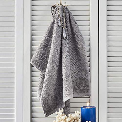 Nautica Zigzag - Asciugamano in 100% cotone, 550 g/m², 50 x 100, assorbente, morbido e resistente