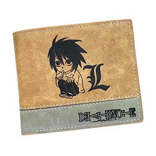 WANHONGYUE Death Note Anime Portafoglio in Pelle Artificiale per Uomo Portamonete Cuciture Bicolore / 2