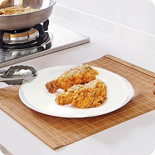 Yuehuam 100 Stück Antihaft-Grillpapier 27,9 cm rund Hamburger-Patty Papier Haushalt oder Restaurant zum Dämpfen Backen Kuchen Kekse Dutch Oven Air Friteuse Tartepfanne