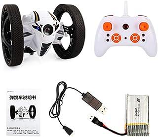 Queenaal Mini Drone Jumping RC Car Bounce Car Robot Toy con Control Remoto Blanco