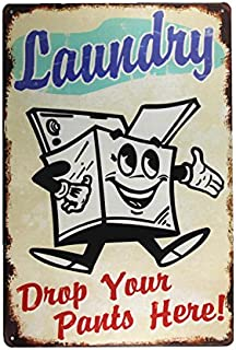 Best tin laundry sign Reviews
