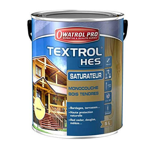 OWATROL Textrol HES - Einschicht-Sättiger mit hoher Trockenextrakt Pro - 5 L, Teakholz