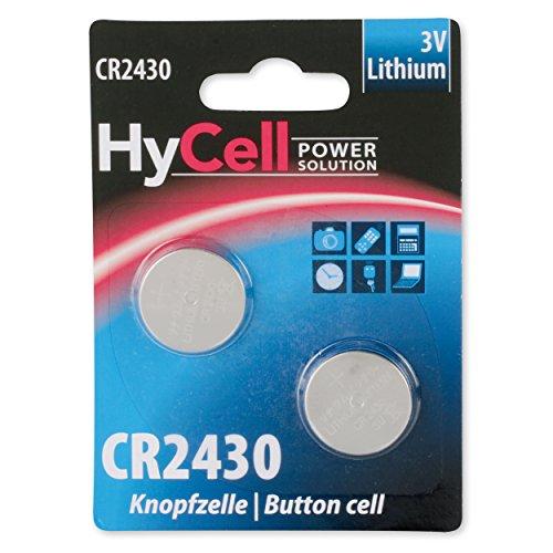 ANSMANN 5020172 CR2430 Lithium Knopfzelle für Garagentoröffner, Alarmanlage, Funkauslöser silber