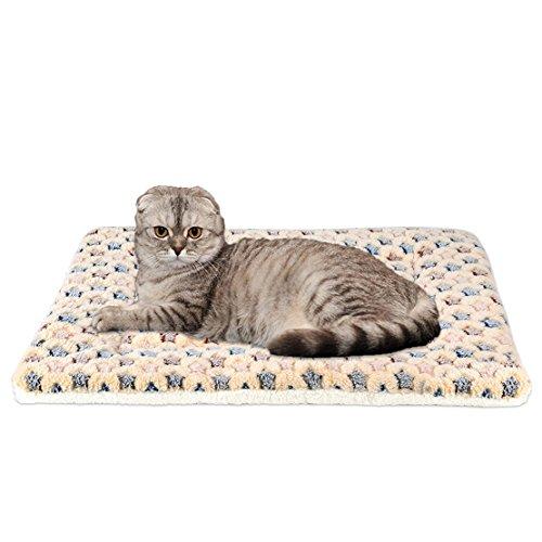 WYSBAOSHU Calentar Mascota Cobija súper Suave Perro Gato Cama Estera (XL:70 * 100cm, Marrón)