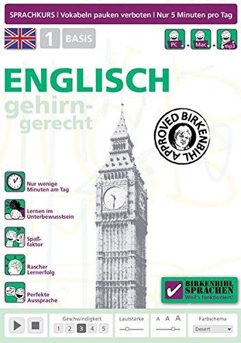 Preisvergleich Produktbild Birkenbihl Sprachen: Englisch gehirn-gerecht,  1 Basis