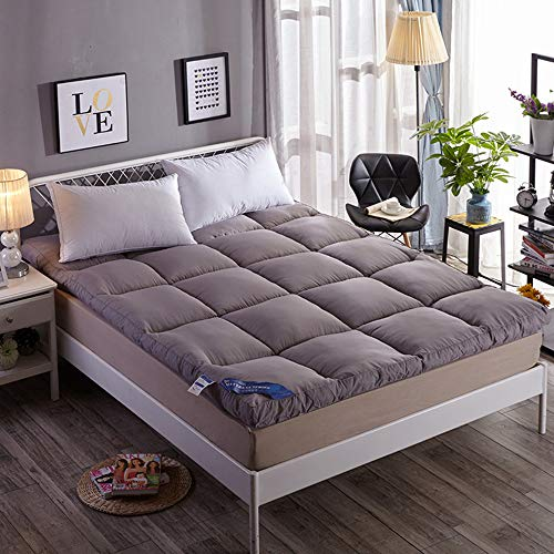 Double Single Floor Mattress Japanese,Student Dormitory Folding Mattress,futon Floor Mattress, Breathable Soft Comfortable for Living Room Dormitory Camping,A,Full