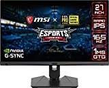 MSI Optix MAG274QRFDE-QD 69 cm (27 Zoll) Gaming-Monitor (WQHD, Rapid-IPS-Panel, 165hz, 1ms, G-Sync Compatible, Quantum Dot, HDR Ready, HDMI, DisplayPort) schwarz