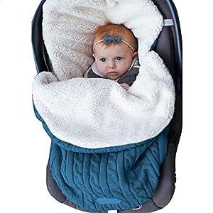 XMWEALTHY Baby Girls Boys Wrap Swaddle Blankets Newborn Infant Knit Plush Receiving Blankets Sleeping Sack