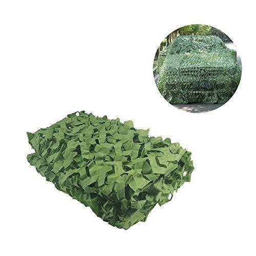 Camouflage Net,Filet de Camo Filet d'ombre Soleil Maille de Protection Auvents Tente Tissu Oxford,Convient pour DéGuisement Chasse Décoration Photographie Jardin en Plein air Big Lgnifuge,Vert