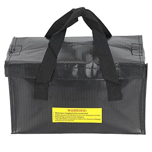 Bolsa Protectora de batería Lipo, Resistente al Calor, Negra, a Prueba de explosiones, Bolsa Segura para baterías de Aviones RC, Almacenamiento para Almacenamiento de baterías Lipo
