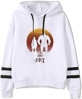 Sudadera de Anime Unisex Sudadera de Manga Larga de Fullmetal Alchemist Sudadera Deportiva de Dibujos Animados Divertidos ...