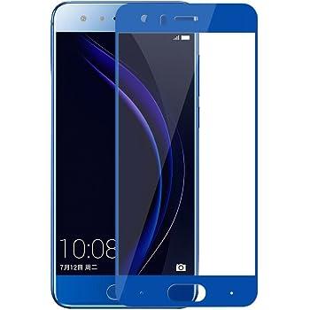 【Olliwon】2枚セット Huawei Honor 9 ガラス フィルム Honor 9 液晶フィルム ファーウェイ オナー9 全面フィルム 保護フィルム 99%高透過率 飛散防止 気泡ゼロ(Honor 9 ブルー)