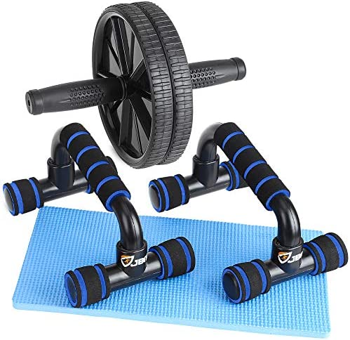 JBM Perfect Muscle Push up Pushup Bars Stands Ab Wheel Roller Handles Aid Equipment for Men product image