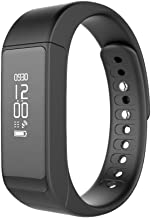 YUNTAB I5 Plus Smartband, Sleep Detect/Fitness Tracker/Call Notifiction, Waterproof, OLED Display, Compatible IOS7.0 & Android 4.9 Above Version (Black-I5 Plus)