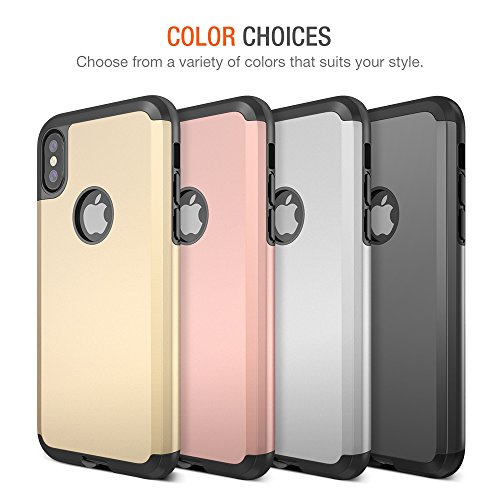 Trianium Protanium Series Case Designed for Apple iPhone Xs (2018) & iPhone X (2017) Case with Heavy Duty Protection and Reinforced Corner Cushion and Rigid Hard Back Panel - Gunmetal