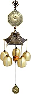 WINOMO Lucky Wind Chimes Chinese Feng Shui Wind Bells Retro Vintage Copper Good Luck Windchimes Pendant for Balcony Garden...